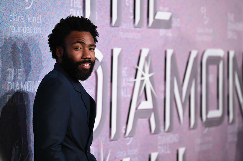 Donald Glover gave away a pair of his shoes using AirDrop.