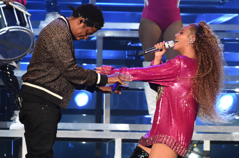Jay-Z performs with Beyonce at the 2018 Coachella Valley Music And Arts Festival