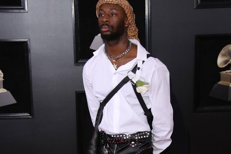 GoldLink arrives at the 60th Annual Grammy Awards