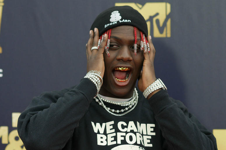 Rapper Lil Yachty attending the 2018 MTV Movie and TV Awards held at the Barker Hangar in Los Angeles, USA.