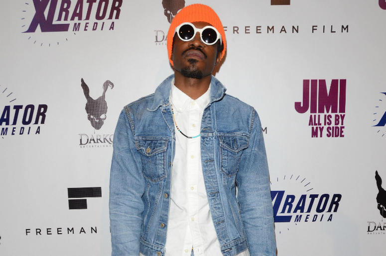 """Andre 3000 Benjamin. Arrivals for the special Los Angeles screening of """"Jimi: All Is By My Side"""" held at The ArcLight Cinemas in Hollywood, Ca."""
