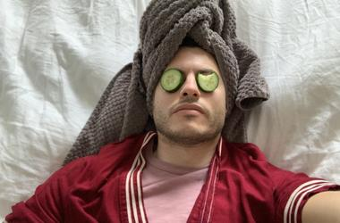 Adam Getting a Facial