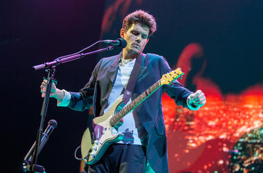 John Mayer at United Center during The Search For Everything Tour on April 11, 2017, in Chicago, Illinois