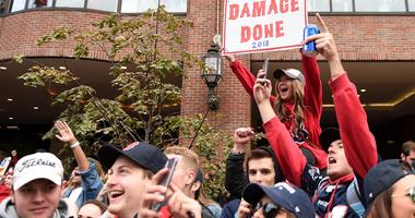 Arrest After Beer Hits Manager at Red Sox Parade