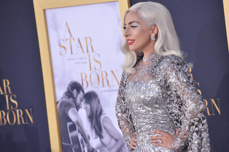 "Lady Gaga arrives at ""A Star Is Born"" Los Angeles Premiere"
