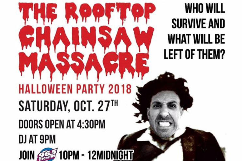 965 TIC Rooftop Chainsaw Massacre Halloween Party