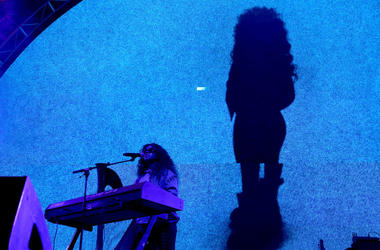 H.E.R. performs onstage at night two of the STAPLES Center Concert