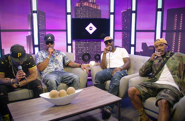 Jagged Edge in V-103's studios