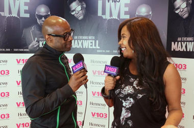 KEM and Ramona DeBreaux at V103 Live