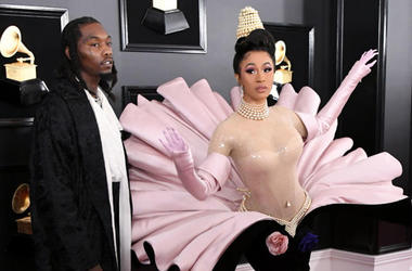 Offset and Cardi B at the 2019 Grammy Awards