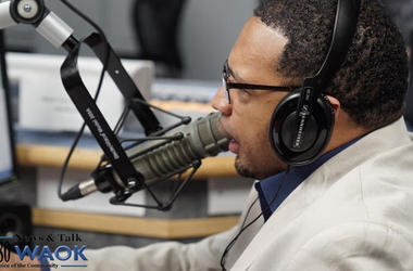 Rashad Richey in the WAOK studios