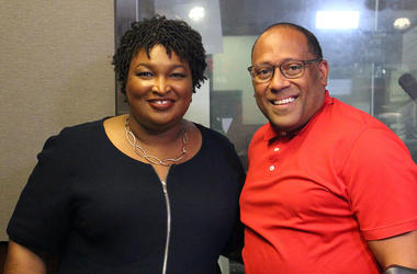 Stacey Abrams and V-103's Frank Ski
