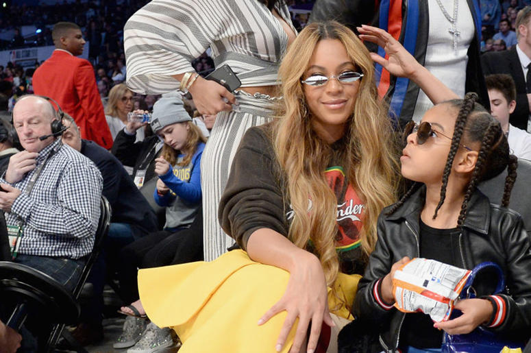 Beyonce and Blue Ivy at the 2018 NBA All Star Game