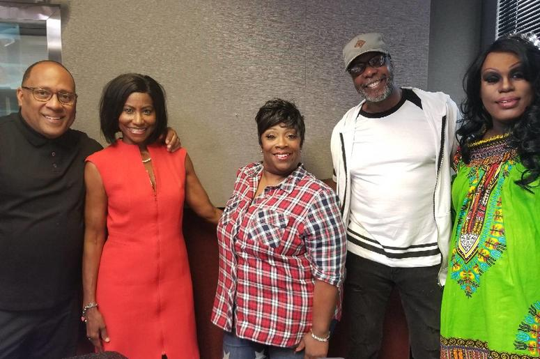 Pastor Dennis and author Lydia Meredith visit V-103's Frank and Wanda In The Morning