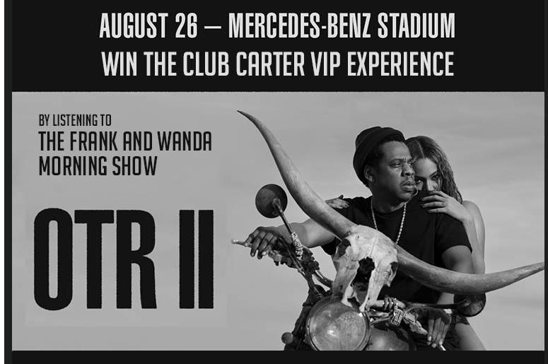 V 1033 fm atlanta urban music wvee fm radio frank wanda are giving away 2 ultra vip tickets for beyonce jay zs otr ii concert m4hsunfo