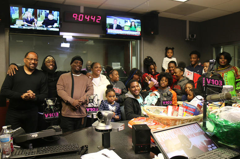 The 16-member Natt Family lost everything in a house fire; V-103's Frank Ski rallies Atlanta to support and help rebuild their lives