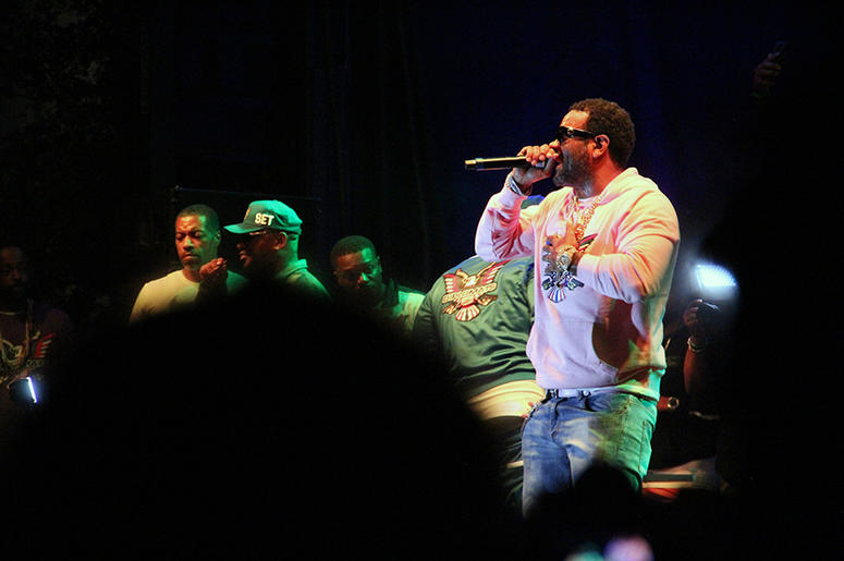 Dipset rapper Jim Jones performs Rapper Cam'ron performs as part of The Diplomats show at A3C in Atlanta on October 7, 2018