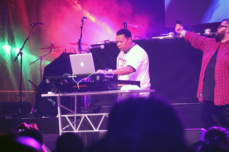 Legendary producer Mannie Fresh performs a DJ set at A3C in Atlanta on October 7, 2018