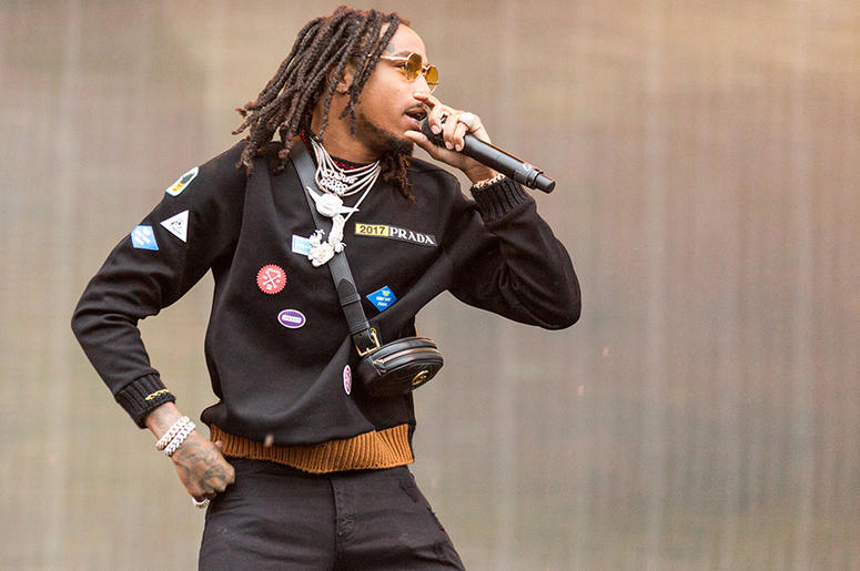 Quavo of Migos during the Budweiser Made In America Music Festival at Benjamin Franklin Parkway on September 2, 2017, in Philadelphia, Pennsylvania