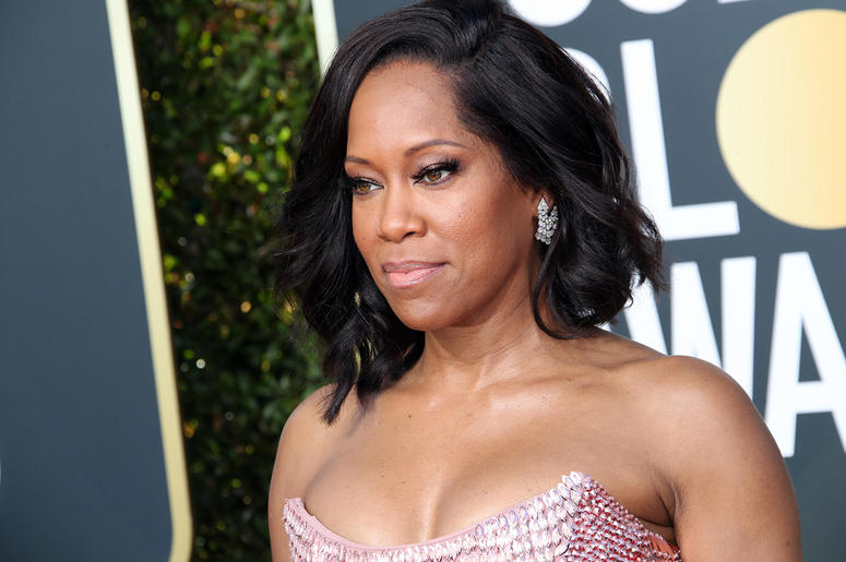 Regina King arrives at the 76th Golden Globe Awards at the Beverly Hilton