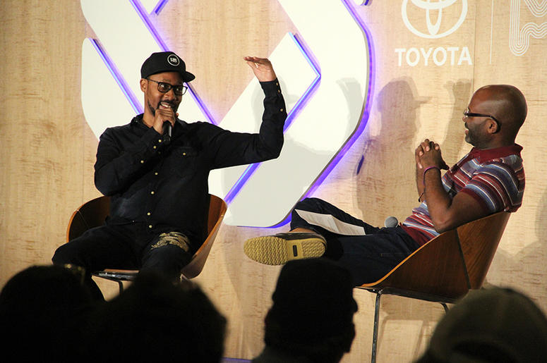 Wu-Tang Clan's RZA talks to NPR hip-hop writer Rodney Carmichael at A3C in Atlanta on October 5, 2018