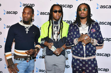 BEVERLY HILLS, CA - JUNE 21: (L-R) Offset, Takeoff and Quavo of Migos attend the 31st Annual ASCAP Rhythm & Soul Music Awards at the Beverly Wilshire Four Seasons Hotel on June 21, 2018 in Beverly Hills, California.