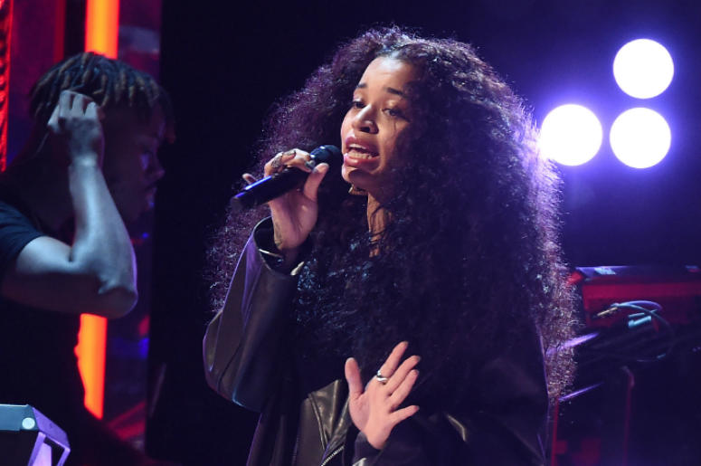 LOS ANGELES - JUNE 24: Ella Mai performs on the 2018 BET Awards at the Microsoft Theater on June 24, 2018 in Los Angeles, California.