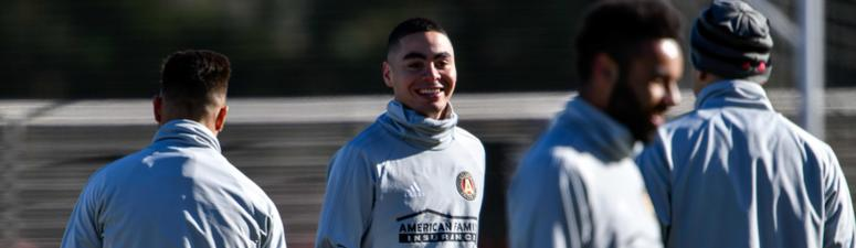 "Bocanegra on Almiron: ""At the moment he's here and he's on our team"""