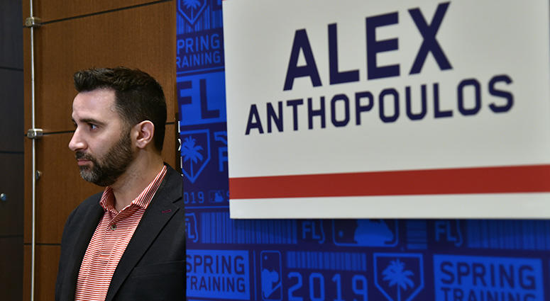 Atlanta Braves general manager Alex Anthopoulos during the MLB annual spring training media day