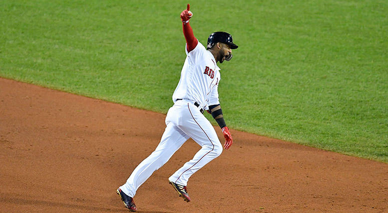 Boston Red Sox pinch hitter Eduardo Nunez