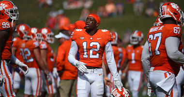 Clemson Tigers defensive back K'Von Wallace