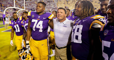 LSU Tigers head coach Ed Orgeron