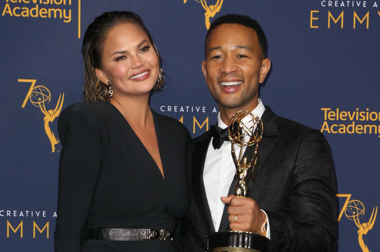 09 September 2018- Los Angeles, California - John Legend, Chrissy Teigen. 2018 Creative Arts Emmy Awards_Press Room held at The Microsoft Theater.