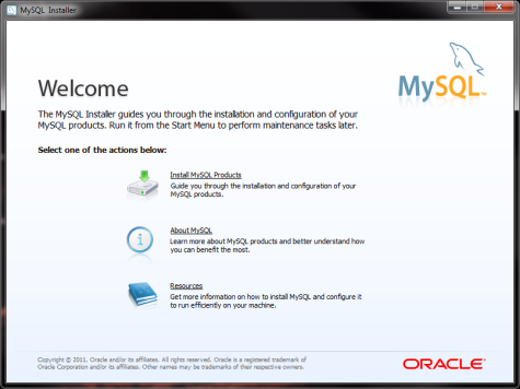 MySql Install Screen