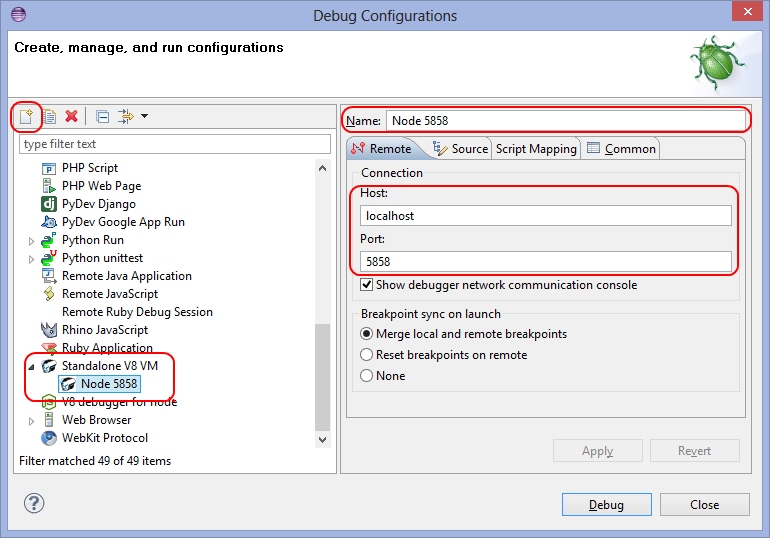 Debug Run Configuration