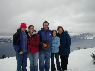 My brother and family at Crator lake