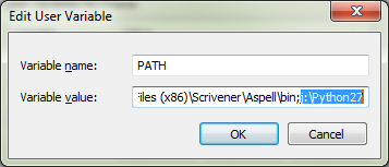 Append Python folder to a path