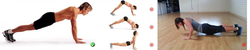 Ready position for Push-Ups