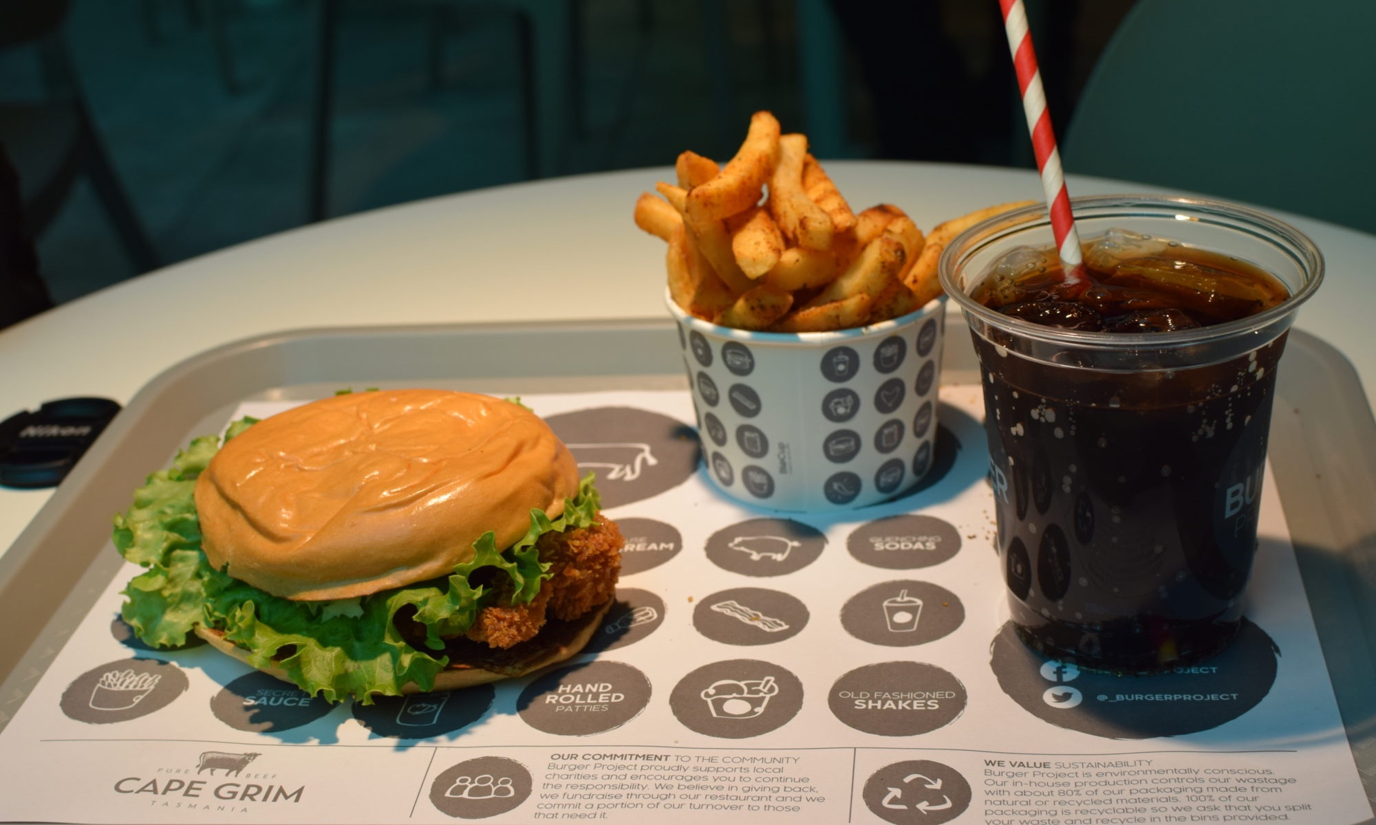Old Thomas's perfect diet: Burger, Fries and Coke (with free refills!)