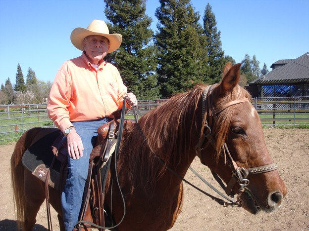Here I am in Sheldon, CA working out with my Arabian,  Monte.