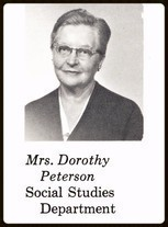 Dorothy Peterson (English, Counselor 1959-1967)