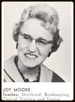 Joy M. Cliffe (Clemow, Moore -Business Ed, Typing 1946-1962)