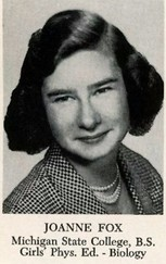 Joanne Ruth (Chabut) Fox (1952 Biology)