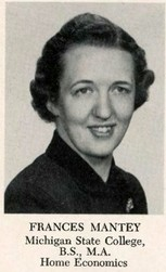Frances May Mantey (Alles 1952 Home Ec)