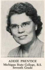 Addie Carolyn Redfield Prentice (1952 7th Grade)