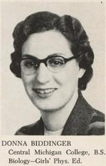 Donna Maye Biddinger (1953 P. E. )
