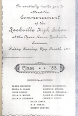 Class Of 1888 Commencement Program