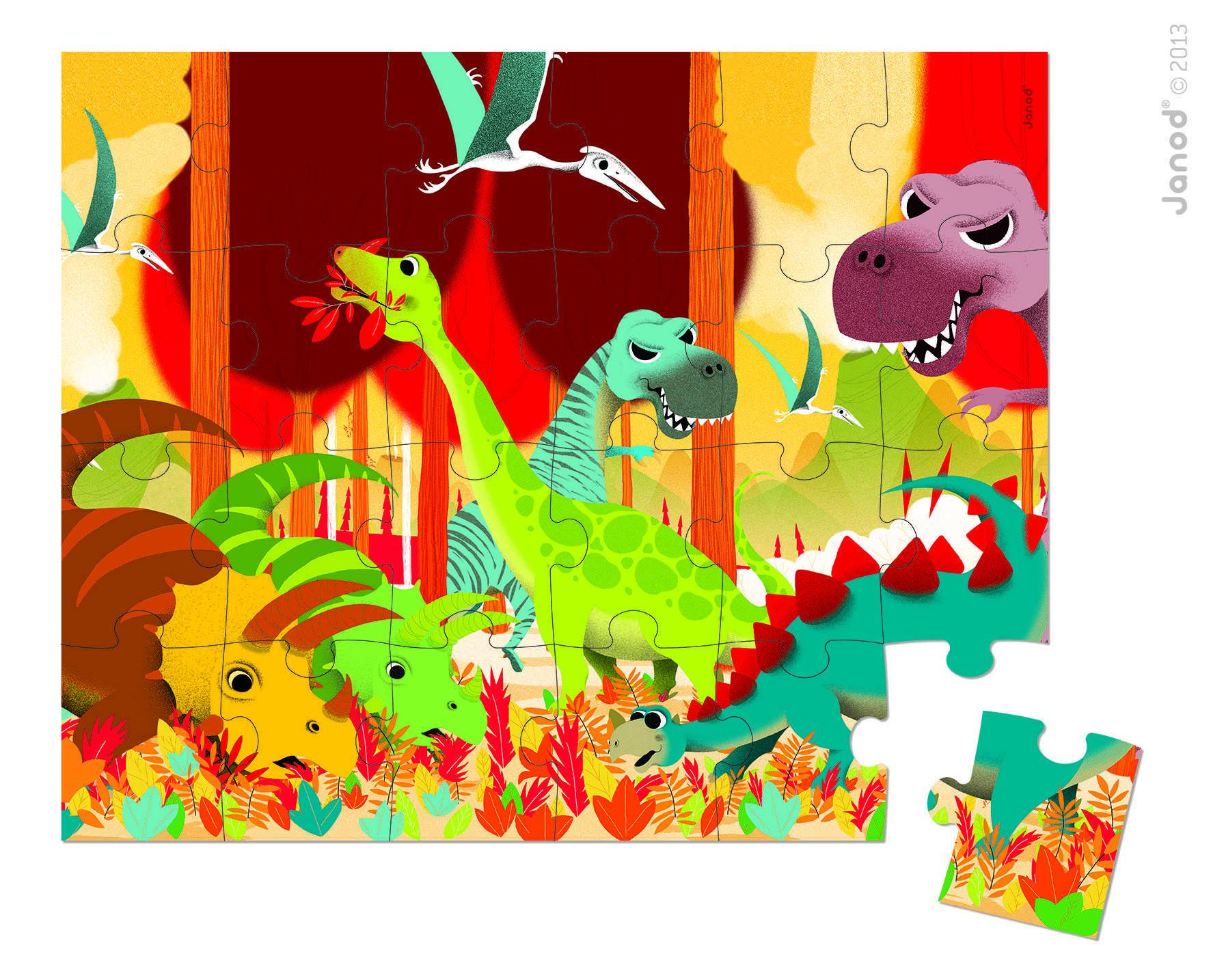 Rompecabezas Dinosaurios X 24p.