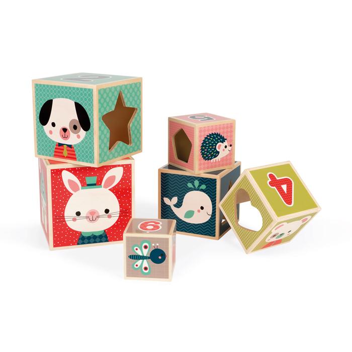 Píramide De 6 Cubos Baby Forest