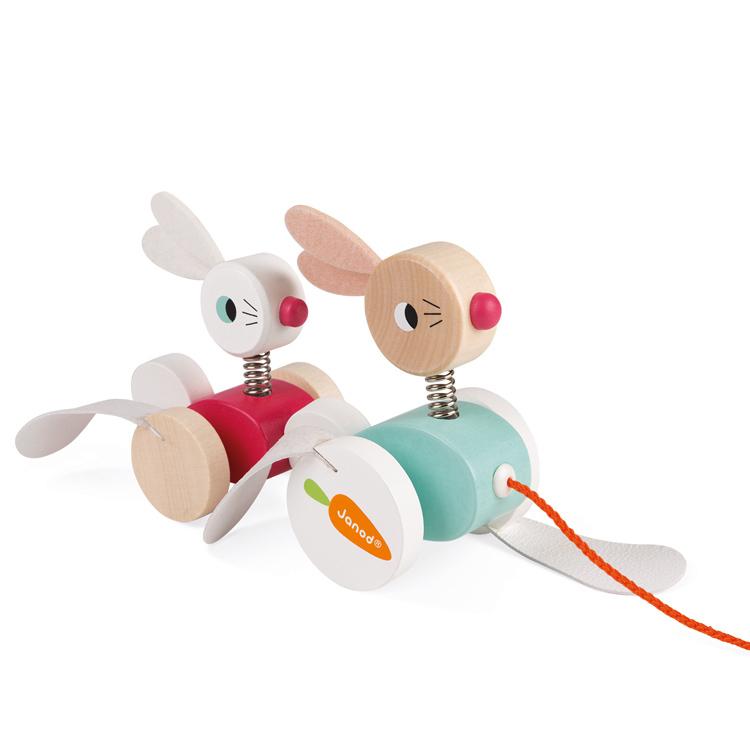 Familia De Conejos De Jalar